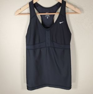 Nike tank top racerback built in bra dri-fit Sz. M